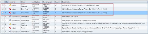 Gambar-3 (Contoh log dalam keadaan nyata, dua HDD rusak)